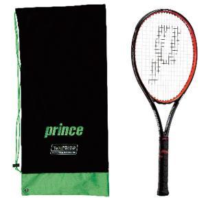 プリンス ハリアー プロ100XR 硬式テニスラケット 7TJ018 (ブラック/レッド)|om-sports