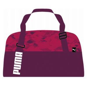 プーマ PUMA コア アクティブ スポーツバッグ M ダッフルバッグ(ボストンバッグ) 074734-04 (ダークパープル/ラブポーション/グラフィック)|om-sports