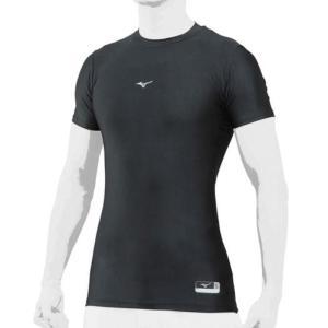 ミズノ MIZUNO バイオギア(ローネック/半袖)(ユニセックス)18SS 野球用アンダーシャツ 12JA8C31-09 (ブラック)|om-sports