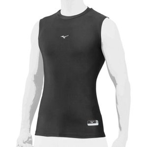 ミズノ MIZUNO バイオギア(ローネック/ノースリーブ)(ユニセックス)18SS 野球用アンダーシャツ 12JA8C41-09 (ブラック)|om-sports