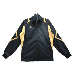 ミズノ ミズノプロ R-LINE ウィンドブレーカーシャツ 15FW(限定モデル) その他ウエア 12JE5W87-09 (ブラック×ゴールド)|om-sports