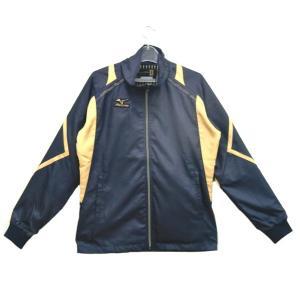 ミズノ ミズノプロ R-LINE ウィンドブレーカーシャツ 15FW(限定モデル) その他ウエア 12JE5W87-14 (ディーピネイビー×ゴールド)|om-sports