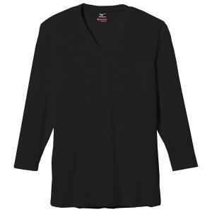 ミズノ ブレスサーモエブリ・Vネック長袖シャツ インナーウエア C2JA5601-09 (ブラック)