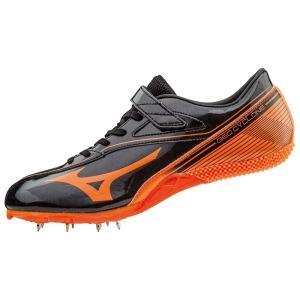 ミズノ ジオサイクロン スパイク U1GA1715-54 (ブラック×オレンジ) 陸上スパイク 陸上競技|om-sports