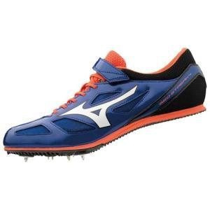 ミズノ MIZUNO ジオストリーク4(ユニセックス) 中距離スパイク U1GA1913-01 (ブルー×ホワイト×オレンジ) om-sports