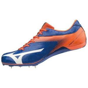 ミズノ MIZUNO ジオバーサス2(ユニセックス) NEW 短距離初心者用スパイク U1GA1915-01 (ブルー×ホワイト×オレンジ)|om-sports