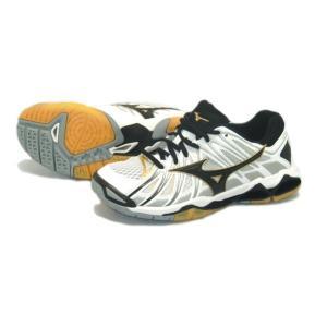 ミズノ MIZUNO ウエーブトルネードX2 18SS バレーボールシューズ:V1GA1812-09 (ホワイト×ブラック×ゴールド)|om-sports
