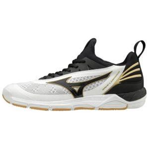 ミズノ MIZUNO ウエーブルミナス(ユニセックス) バレーボールシューズ V1GA1820-09 (ホワイト×ブラック×ゴールド)|om-sports
