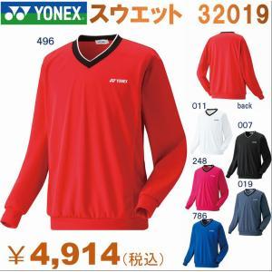 ヨネックス YONEX テニスウエア トレーナー 長袖 メンズ スウェットシャツ Vネック プラクティスシャツ トレーニングウェア 練習着 大きいサイズ おしゃれ 32019|om-sports