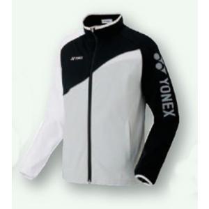 ヨネックス UNI ニットウオームアップシャツ 17SS ウオームアップウエア 52012-245 (ブラック/ホワイト)|om-sports