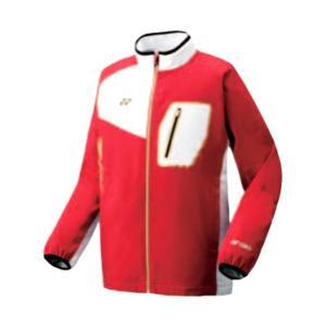 ヨネックス 裏地付ウィンドウォーマーシャツ(フィットスタイル) 16FW ウオームアップウエア 70051-001 (レッド)|om-sports