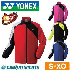 ヨネックス YONEX テニスウェア メンズ レディース 長袖 秋冬 あったかい 暖かい ウェア  裏地付ウインドウォーマーシャツ ウオームアップウエア 70063 (4色)|om-sports