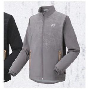 ヨネックス YONEX UNI 裏地付ウィンドウォーマーシャツ(フィットスタイル)NEW ウォームアップシャツ 70067-010(グレー)|om-sports