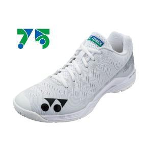 ヨネックス YONEX 75THパワークッションエアラスZウィメン レディースバドミントンシューズ SHBAZLA-011(ホワイト)|om-sports