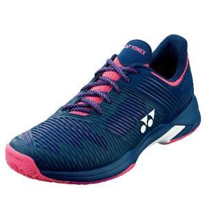 ヨネックス YONEX パワークッションソニケージ2ウイメンAC テニスシューズ(レディース) SHTS2LAC-675(ネイビー/ピンク)|om-sports