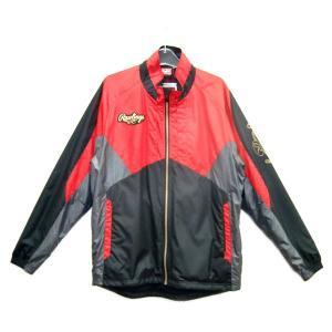ローリングス トレーニングジャケット その他ウエア AOS5S01-BRD (ブラック×レッド)|om-sports