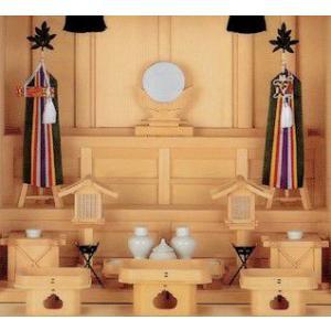 神道 祭壇宮祭具一式セット 檜極上 中 上品|omakase-factory
