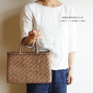 純国産 籠作家尚さん作 山葡萄かごバッグ 網代編み 中 定番型 omame