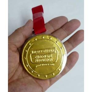 駄菓子 金メダルチョコ21g(18コ)問屋 チョコ景品 メダルチョコレート 子供会