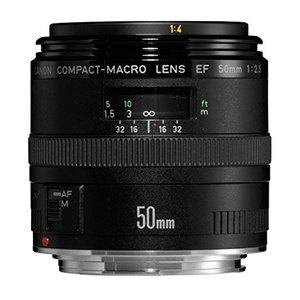 (中古品) Canon 単焦点マクロレンズ EF50mm F2.5 コンパクトマクロ フルサイズ対応...