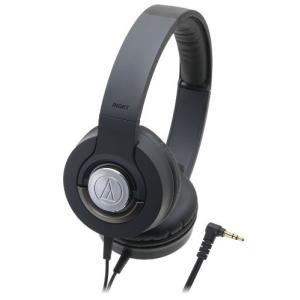 audio-technica SOLID BASS 密閉型オンイヤーヘッドホン ポータブル ブラッ