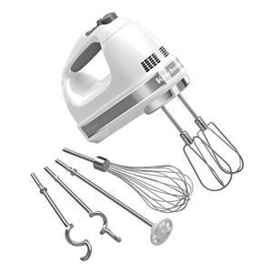 (中古品) KitchenAid キッチンエイド 9段階スピード切替ハンドミキサー白 KHM926[...