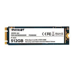 Patriot SSD 512GB SCORCH M.2 2280 PCIe Gen.3 x 2 (...