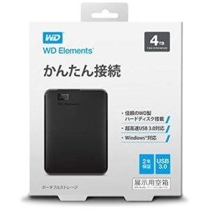 WDBU6Y0040BBK-JESN WD Elements Portable ポ-タブルHDD 4