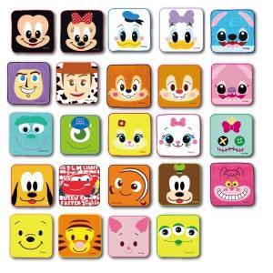 ディズニーオールスター顔柄ミニタオル[ご注文単位は必ず24個単位でお願いします。]景品 子供 ディズニー おもちゃ 子供会 イベント ハンカチ タオル