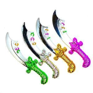 メタリック海賊剣[ご注文単位は必ず25個単位でお願いします]景品 玩具 おもちゃ オモチャ 縁日 お祭り イベント ランチ景品 お子様ランチ 子供会