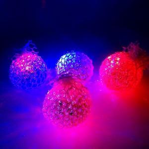 光るおもちゃ 光るつぶつぶラメラメボール 12個入 景品 子供 子供会 縁日 お祭り 夏祭り イベント 売れ筋 ウォーターボール スクイーズ