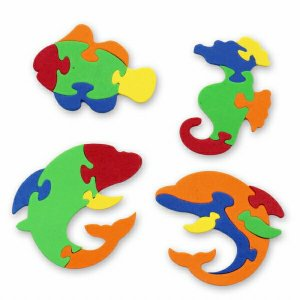 海洋生物スポンジパズル 50個入 景品 玩具 おもちゃ オモチャ 縁日 お祭り イベント ランチ景品...