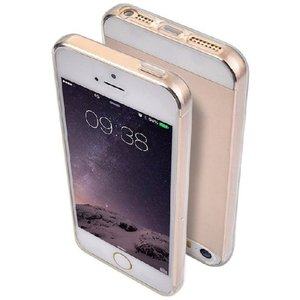 iphone5 iphone5s iPhoneSE 専用 超薄 ソフト ケース 【全4色】 / シンプル で おしゃれ な 透明 アイフォン カバー (ブルー)|omededooo