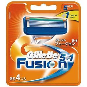 ジレット フュージョン5+1 マニュアル 髭剃り 替刃 替え刃 4コ入 omededooo