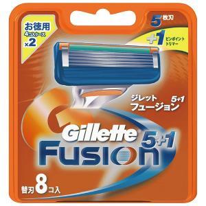 ジレット フュージョン5+1 マニュアル 髭剃り 替刃 替え刃 8コ入 omededooo