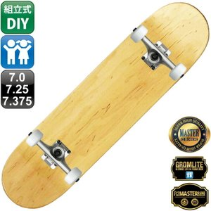 スケボー スケートボード コンプリート 組立式 キッズ 100% カナディアン メイプル ブランク デッキ 6.5 7.0 7.25 7.5 OMG! ウィール 52mm 54mm 無地 トラック|omg-sb