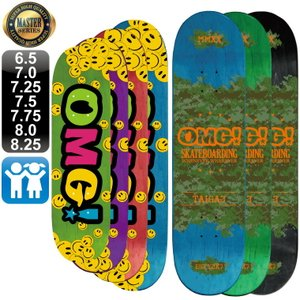 スケボー スケートボード デッキ マスター OMG! ロゴ 6.5 7.0 7.25 7.5 7.75 8.0 8.25 OMG! 100% カナディアン メープル 軽量|omg-sb