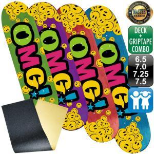 スケボー スケートボード デッキ デッキテープ マスター OMG! ロゴ デッキ 6.5 7.0 7.25 7.5 グリップテープ 100% カナディアン メープル エポキシグルー 軽量 omg-sb