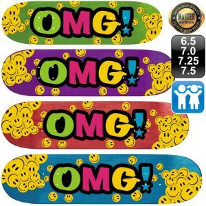 スケボー スケートボード デッキ マスター OMG! ロゴ デッキ 6.5 7.0 7.25 7.5 100% カナディアン メープル エポキシグルー 軽量 omg-sb