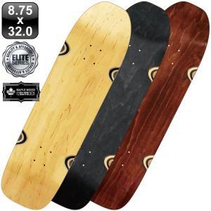 スケボー スケートボード デッキ クルーザー エリート ブランク デッキ 8.75 ナチュラル ブラック 100% メープル コールドプレス 無地 omg-sb