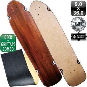 スケボー スケートボード デッキ クルーザー デッキテープ エリート ブランク デッキ 36インチ ナチュラル ブラック ブラウン グリップテープ|omg-sb