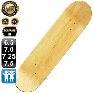 スケボー スケートボード デッキ マスター ブランク 6.5 7.0 7.25 7.5 ナチュラル グロムライト 100% カナディアン メープル エポキシグルー 無地 omg-sb
