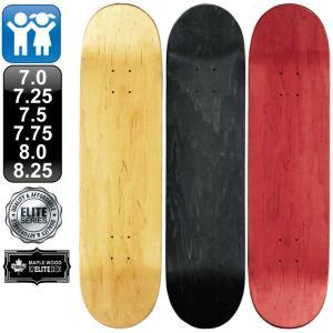 スケボー スケートボード デッキ エリート ブランク 7.0 7.25 7.5 7.75 8.0 8.25 ナチュラル ブラック レッド 100% メープル コールドプレス 無地 omg-sb