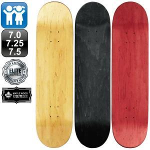 スケボー スケートボード デッキ エリート ブランク .0 7.25 7.5 ナチュラル ブラック レッド 100% メープル コールドプレス 無地 omg-sb