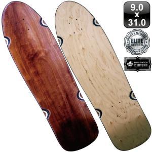 スケボー スケートボード デッキ クルーザー エリート ブランク 31インチ ナチュラル ブラック ブラウン 100% メープル コールドプレス 無地 omg-sb