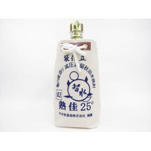 秋田誉酒造 亀の尾智水25度 720ml|omiyageakita