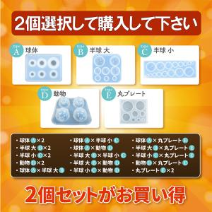 シリコンモールド 2個セット 組み合わせ自由選択 レジン型 UVレジン用ツール 手芸工房
