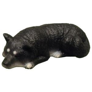 アイピーフォー むにゃむにゃ 柴犬 06.黒ねそべり(やわらか素材)|omochayaya