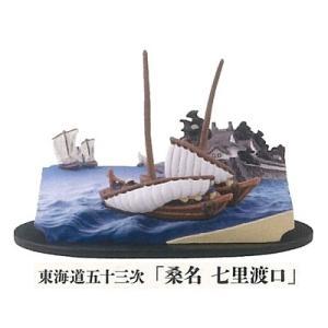 海洋堂 立体組上絵 歌川広重 05.箱根 湖水図(フルカラー)|omochayaya