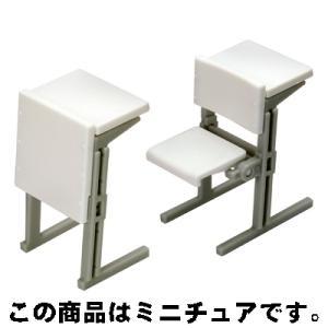 エポック 誰得?!俺得!! 講義室の椅子 03.最前列セット(ホワイト)|omochayaya